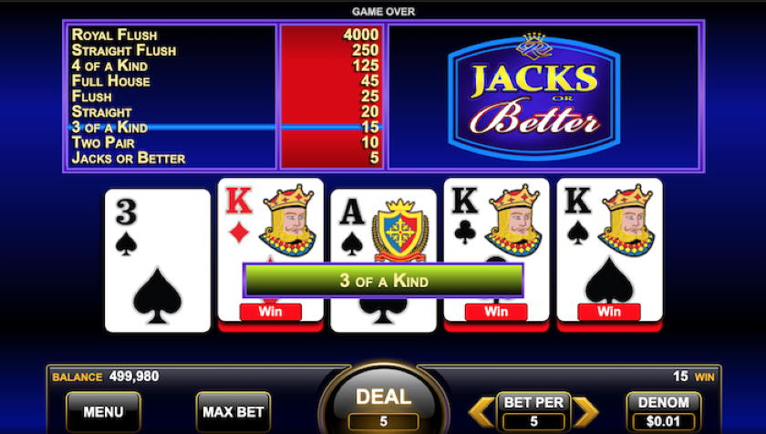 Guide to Play Online Video Poker