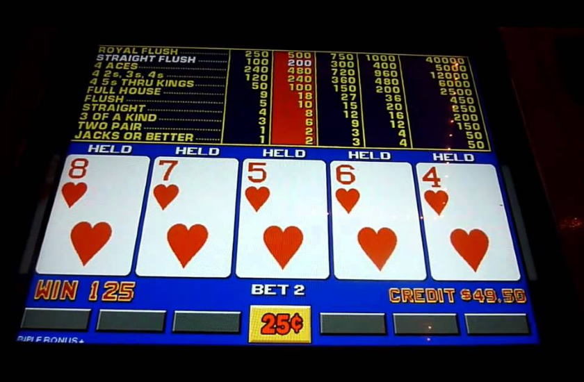 Video Poker Hands Odds